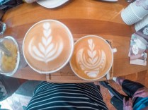 Coffee art at a cafe in Budapest Hungary