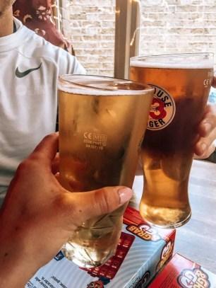 Having some beers in London
