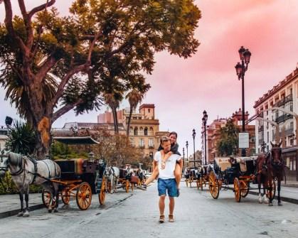 Sunset in Sevilla, Spain