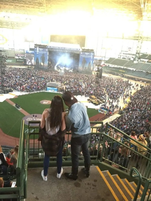 Concert at Miller Park in Milwaukee, WI