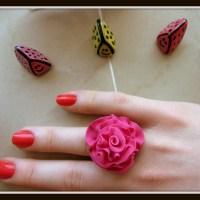 Inel Pink Rose