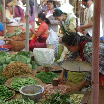 Regional market at Inle Lake