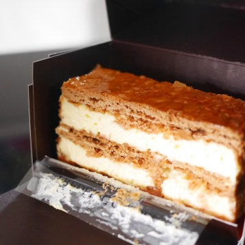 Best Mille Feuille Cake from Best Bakery Frederic Cassel Fontainebleau France