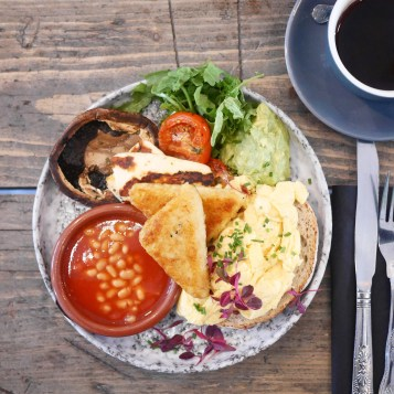 Vegetarian English Breakfast Half Cup London
