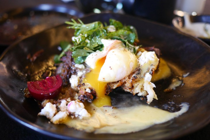 Kubenedictus - Ox Cheek Eggs Benedict at Coal Office, Kings Cross, London, Yolk