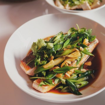 Salmon Fillet in Soy Sauce