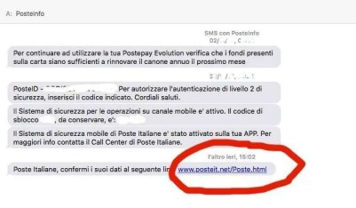 phishing-poste-italiane-postepay-evolution-lolli-group