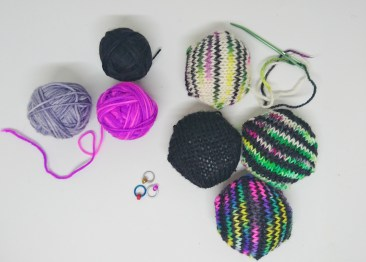 I use some of my own skein for a hexipuff! It's the bottom hexi.