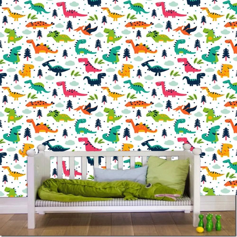 Trasforma la stanza dei bimbi in un luogo aperto alla creatività che li incoraggi a liberare la fantasia. Acquista Carta Da Parati Camera Bambini Dinosauri Interior Design