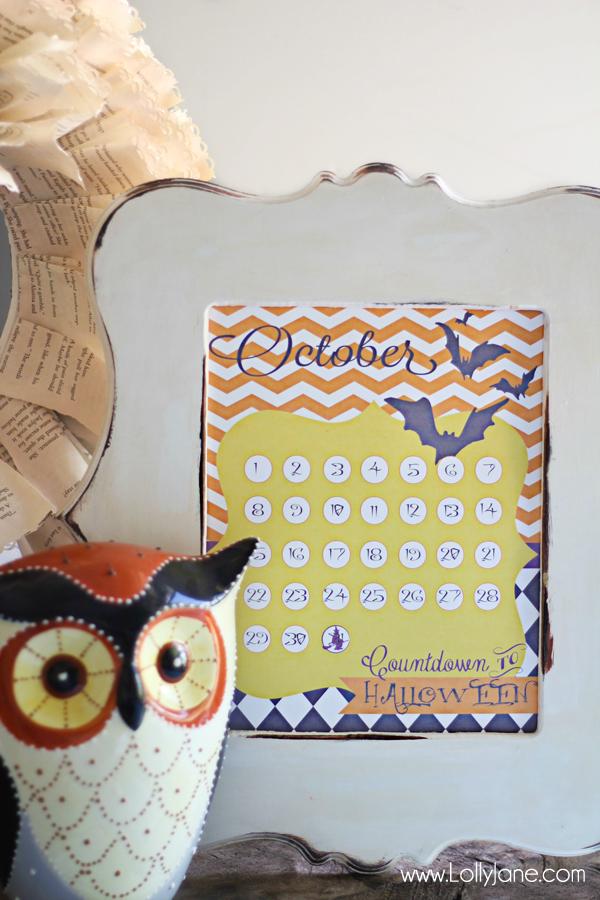 Free Halloween Countdown Calendar Printables By Lolly Jane