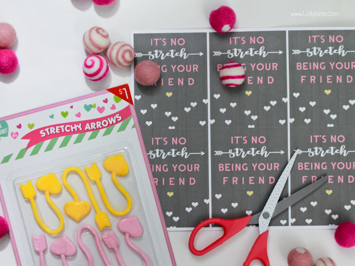 Its No Stretch Printable Valentines Tags Lolly Jane