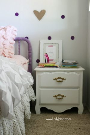 little girl purple gold bedroom makeover   Lolly Jane Little girls purple gold bedroom makeover  Easy ideas to pull together  little girls room decor