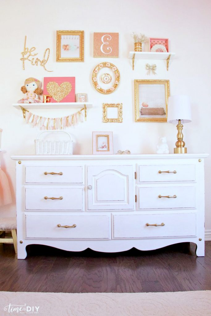 Chippy Glam Dresser Makeover - Lolly Jane on Pretty Room Decor For Girl  id=67920