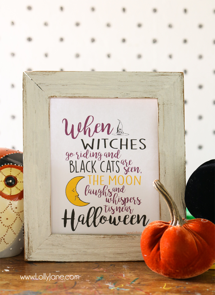 When Witches Go Riding Printable Art by Lolly Jane