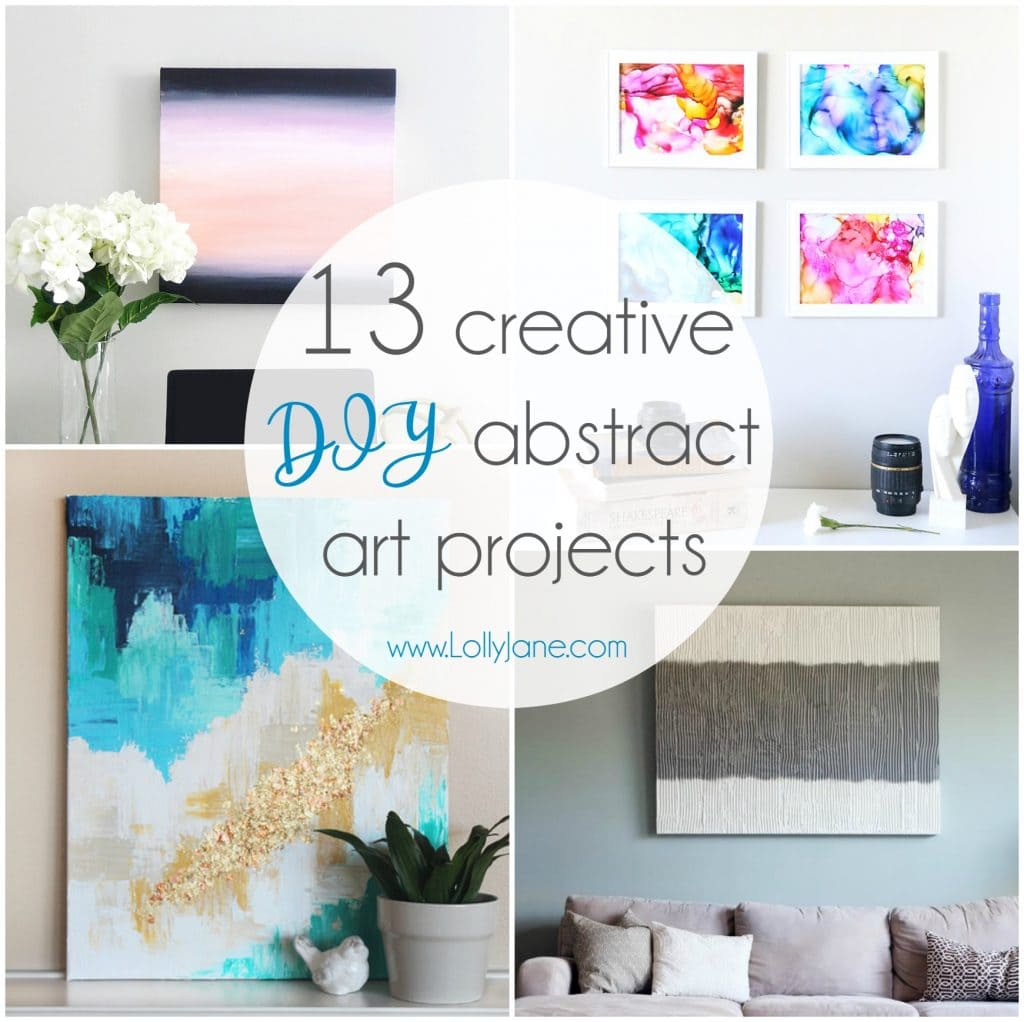 13 Creative DIY Abstract Wall Art Projects - Lolly Jane on Creative Wall Decor  id=94083