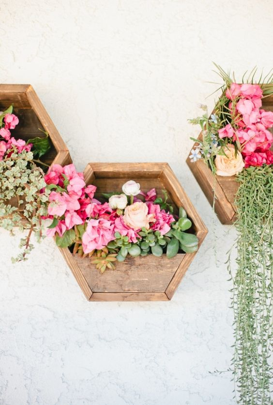 9 stunning wall planters | easy decor ideas - Lolly Jane on Wall Sconces For Greenery Decoration id=62489