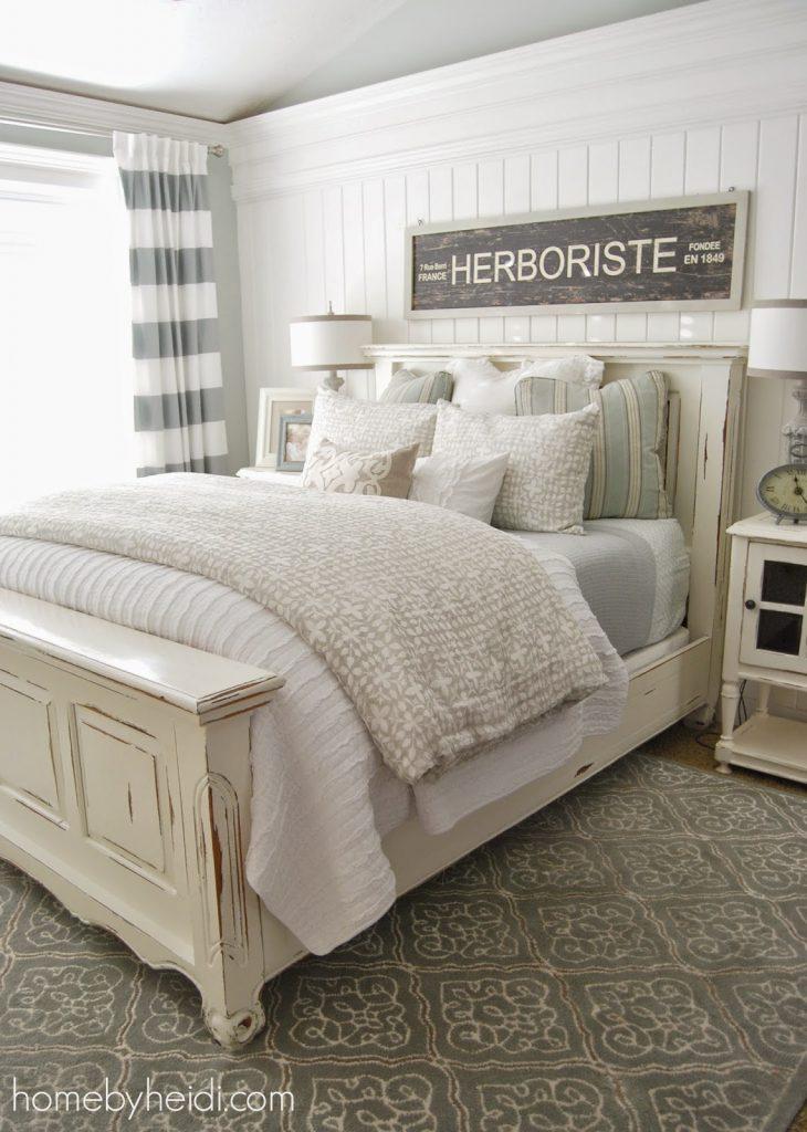 11 stunning farmhouse master bedrooms - Lolly Jane on Bedroom Farmhouse Decor  id=46893