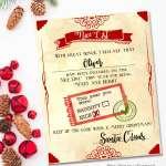 Santa Nice List Free Printable Certificate