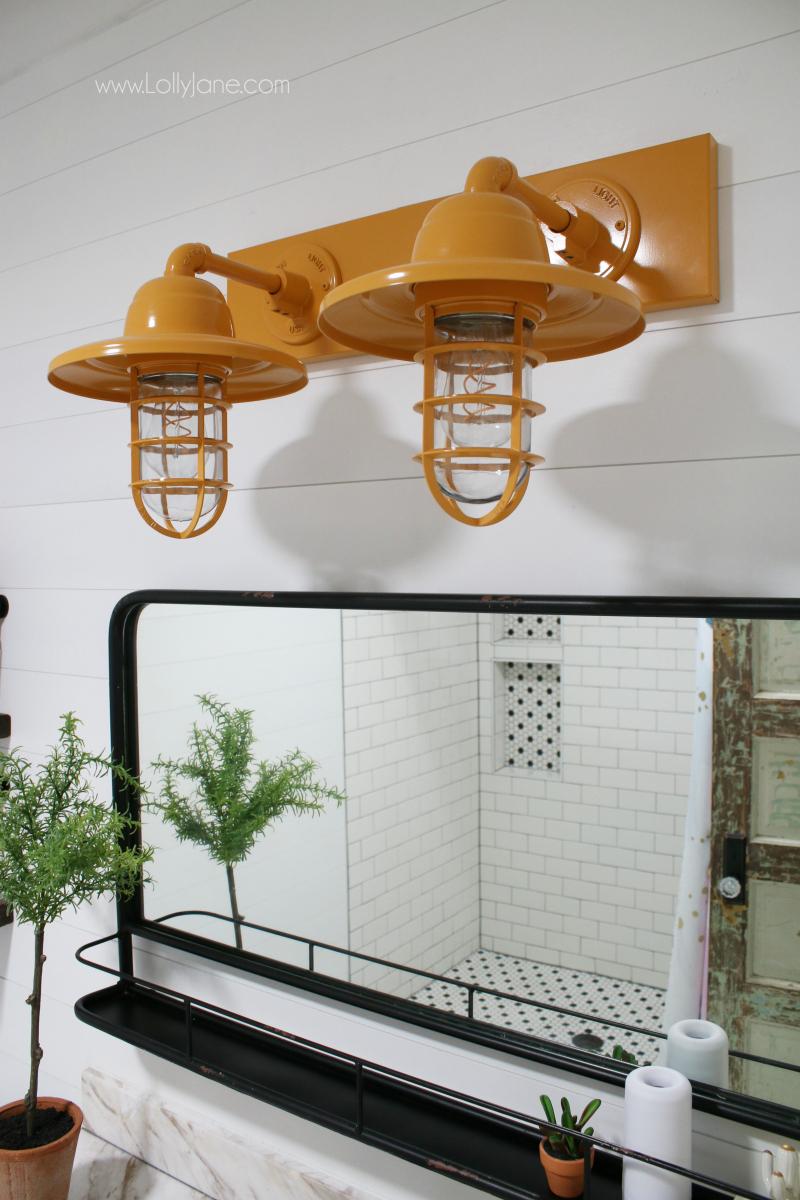 barn light electric farmhouse bathroom