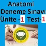 Anatomi Deneme Sınavı Ünite -1 Test-1