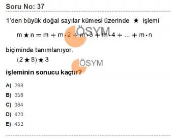 DGS 2020 Sayısal Soru - 37