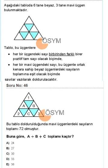DGS 2020 Sayısal Soru - 46