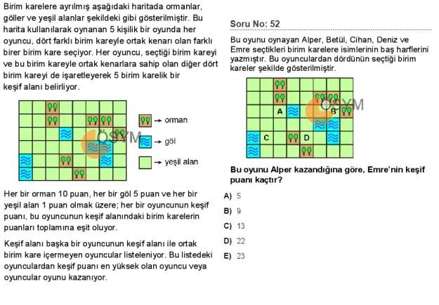 DGS 2020 Sayısal Soru - 52