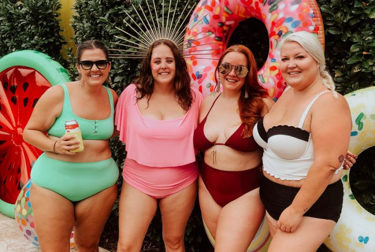 size inclusive body positive pool party