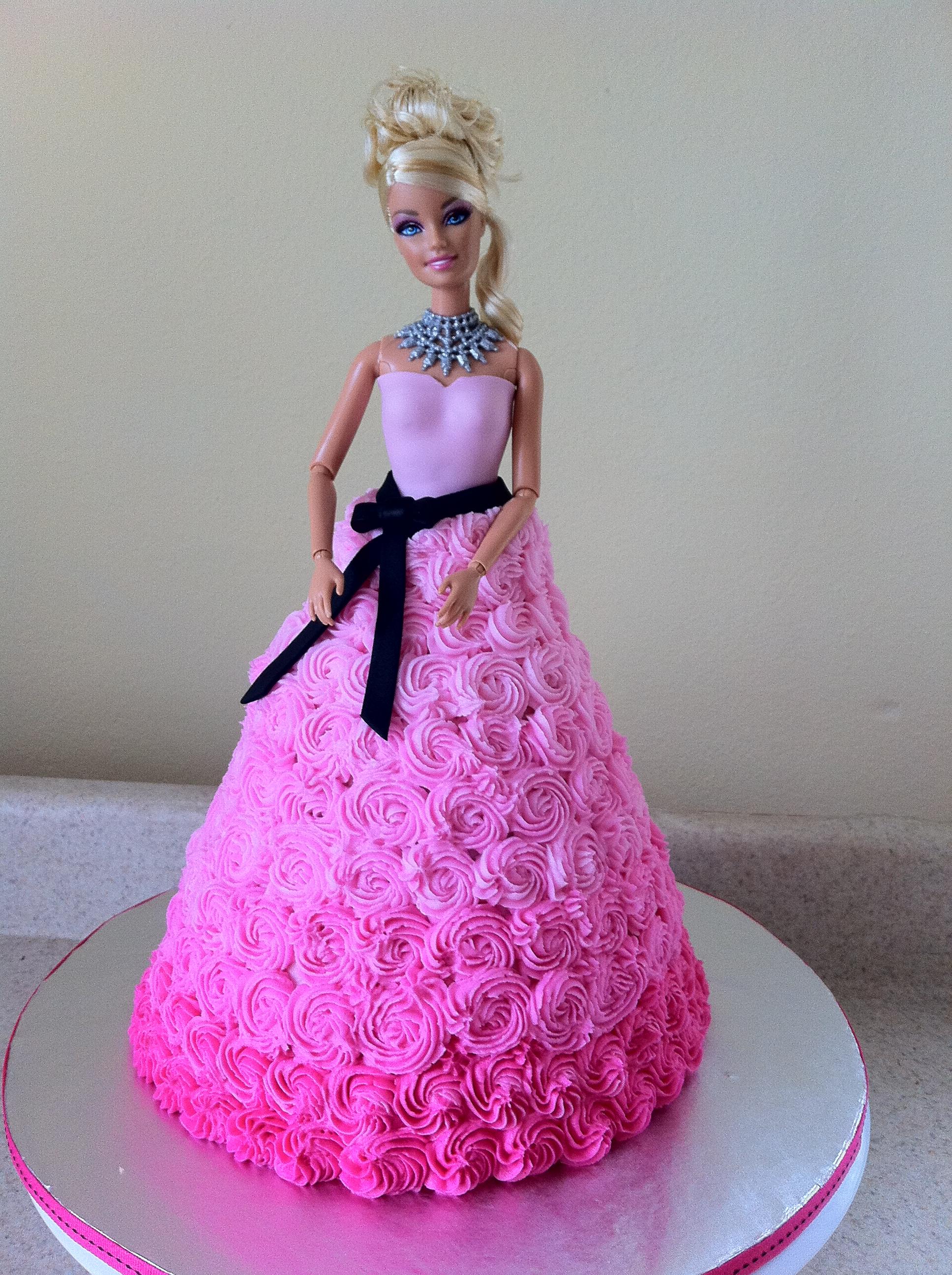 Pink Swirls Little Girls Girls Birthday Cake Birthday