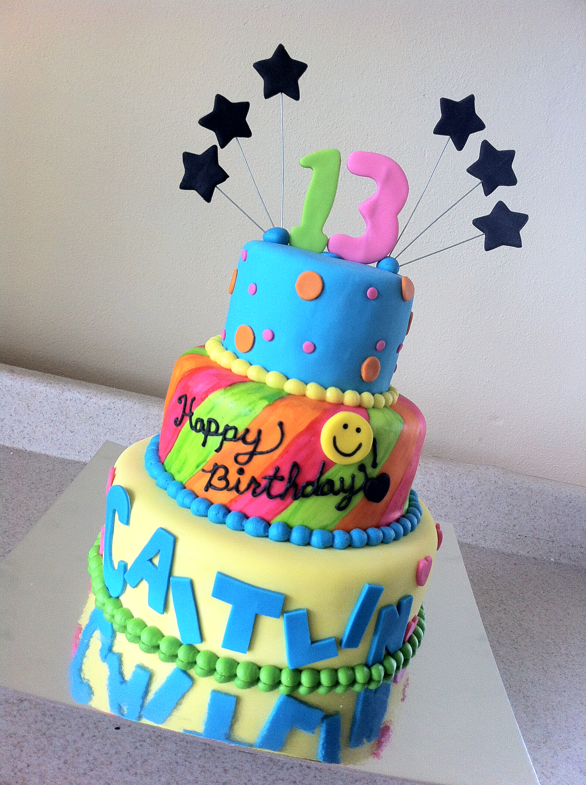 S Themed Dream Birthday Cake
