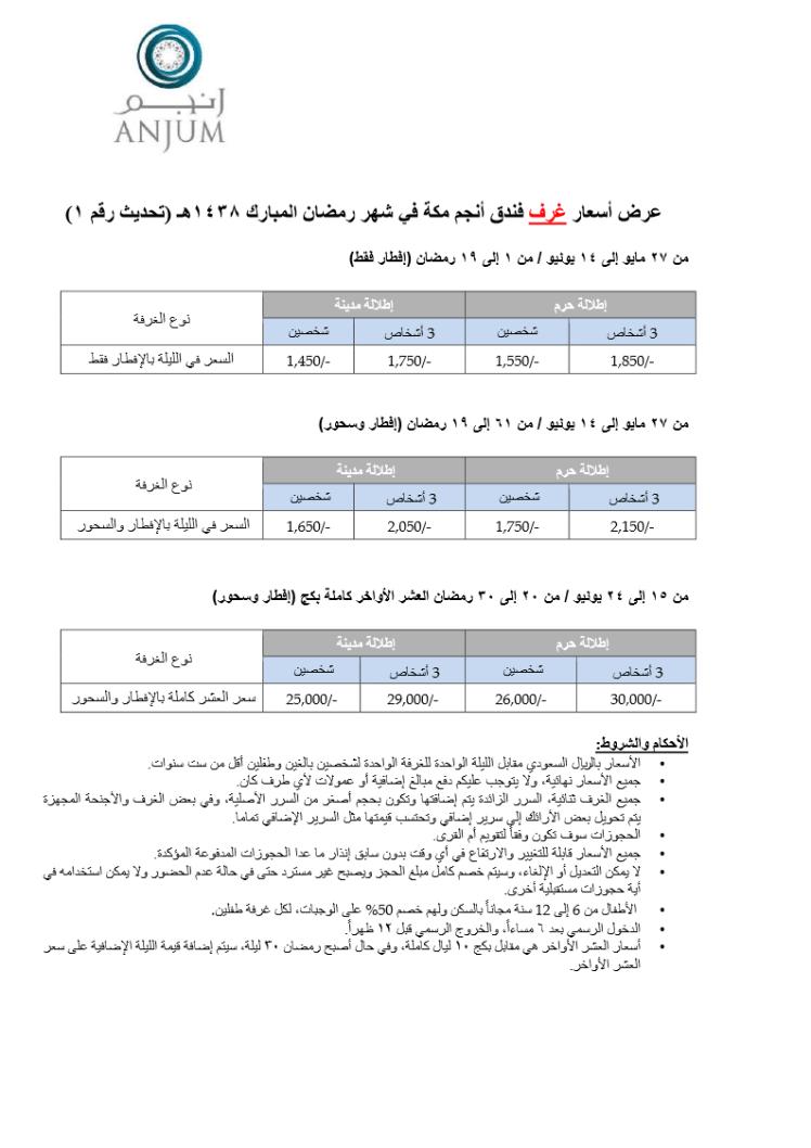 أسعار أنجم غرف رمضان 1438هـ تحديث 1.png