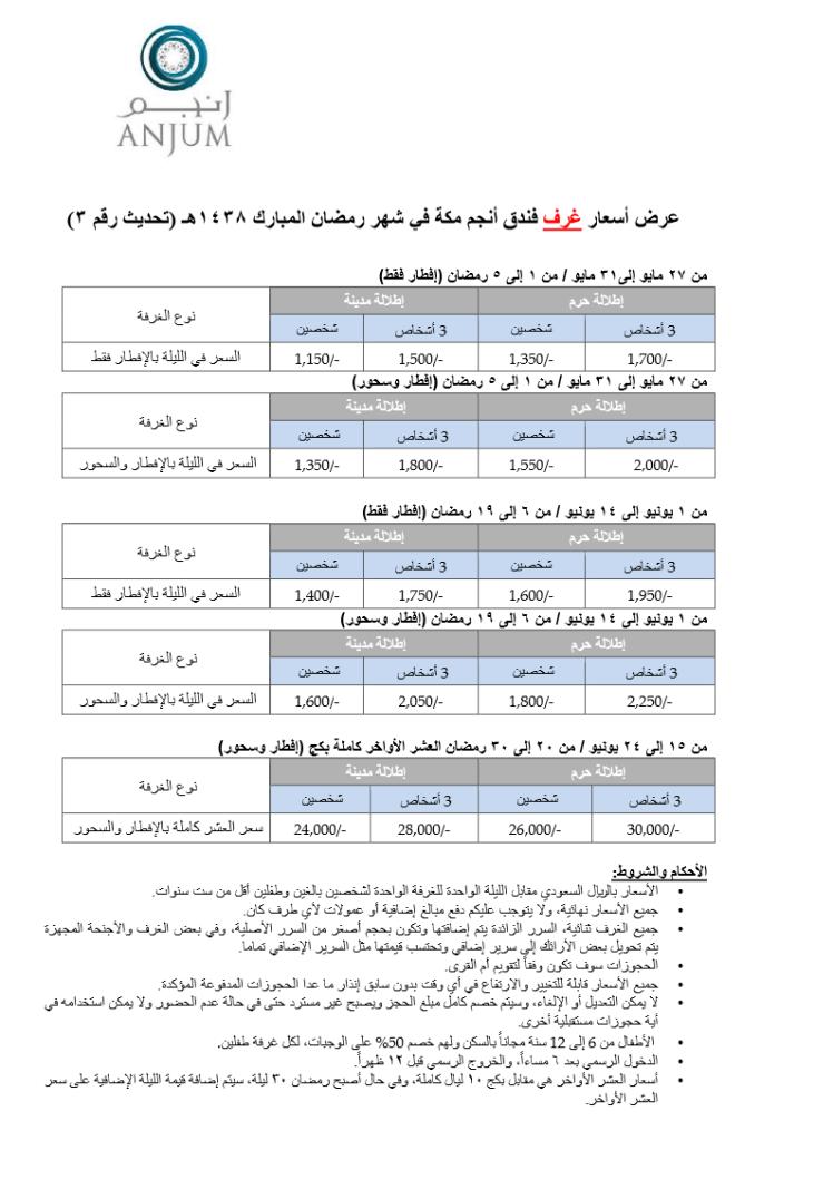أسعار أنجم غرف رمضان 1438هـ تحديث 3.png