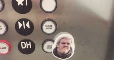 Hodor Hold the door elvator sticker meme