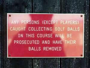 Golfers, Protect Your Balls