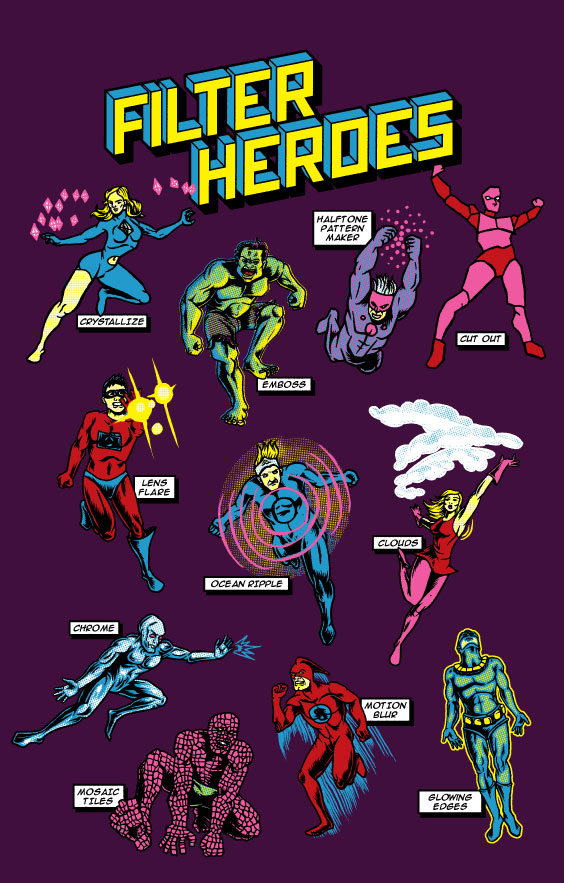 Adobe Filter Super Heroes