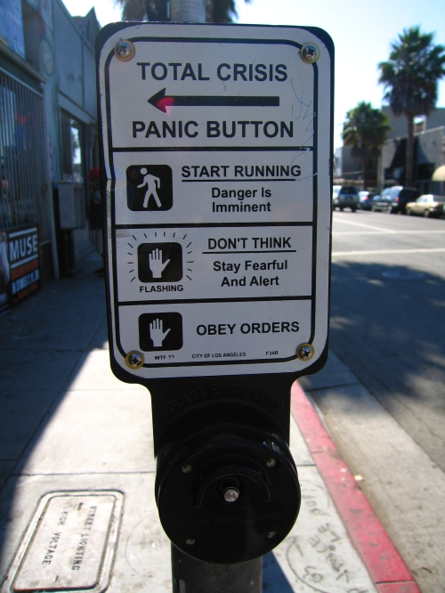 Street Crossing Panic Signs