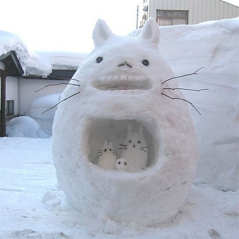 Giant Snow Bunny