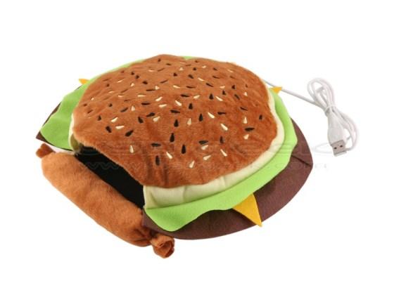 Hand Warming Hamburger Mouse Pad