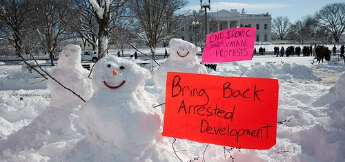 Snowmen Protest for Arrested Development