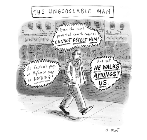 UnGooglable Man?