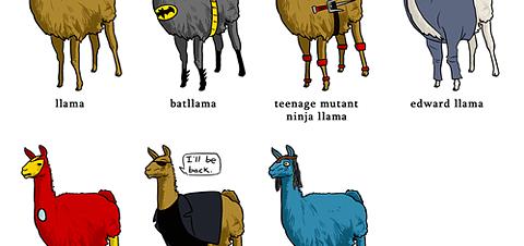 Movie Stars as Llamas