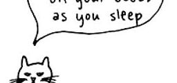 I walk on your boobs as you sleep