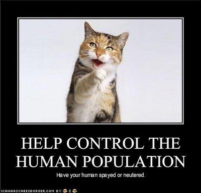 Help Control The Human Population