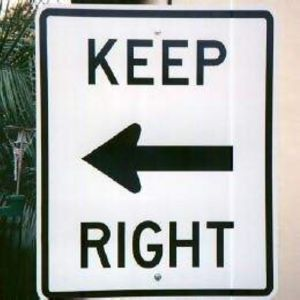 Keep Right. Go Left.