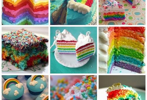 Mmmm Rainbow Cake