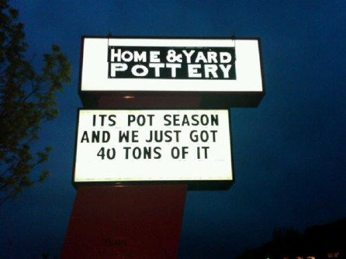 Spring Is Here Which Means It's Pot Season