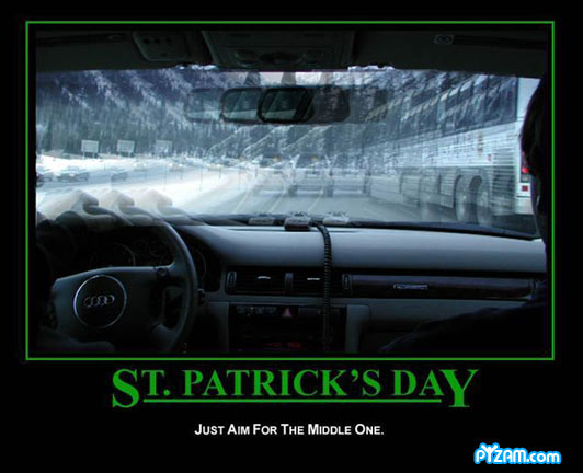 Happy Fuzzy St. Patricks Day - Drive Safe