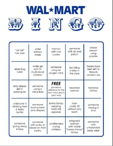 Anyone Want To Play Walmart Bingo?