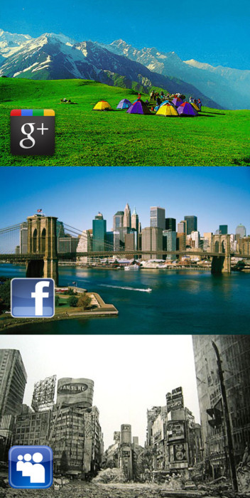 Google + vs Facebook vs MySpace