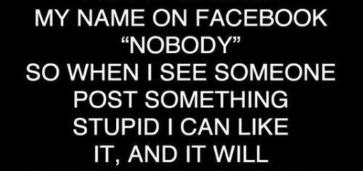 I want to change my name on Facebook to nobody.